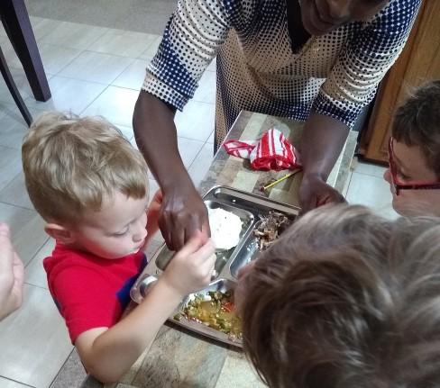 Trying Congo Food