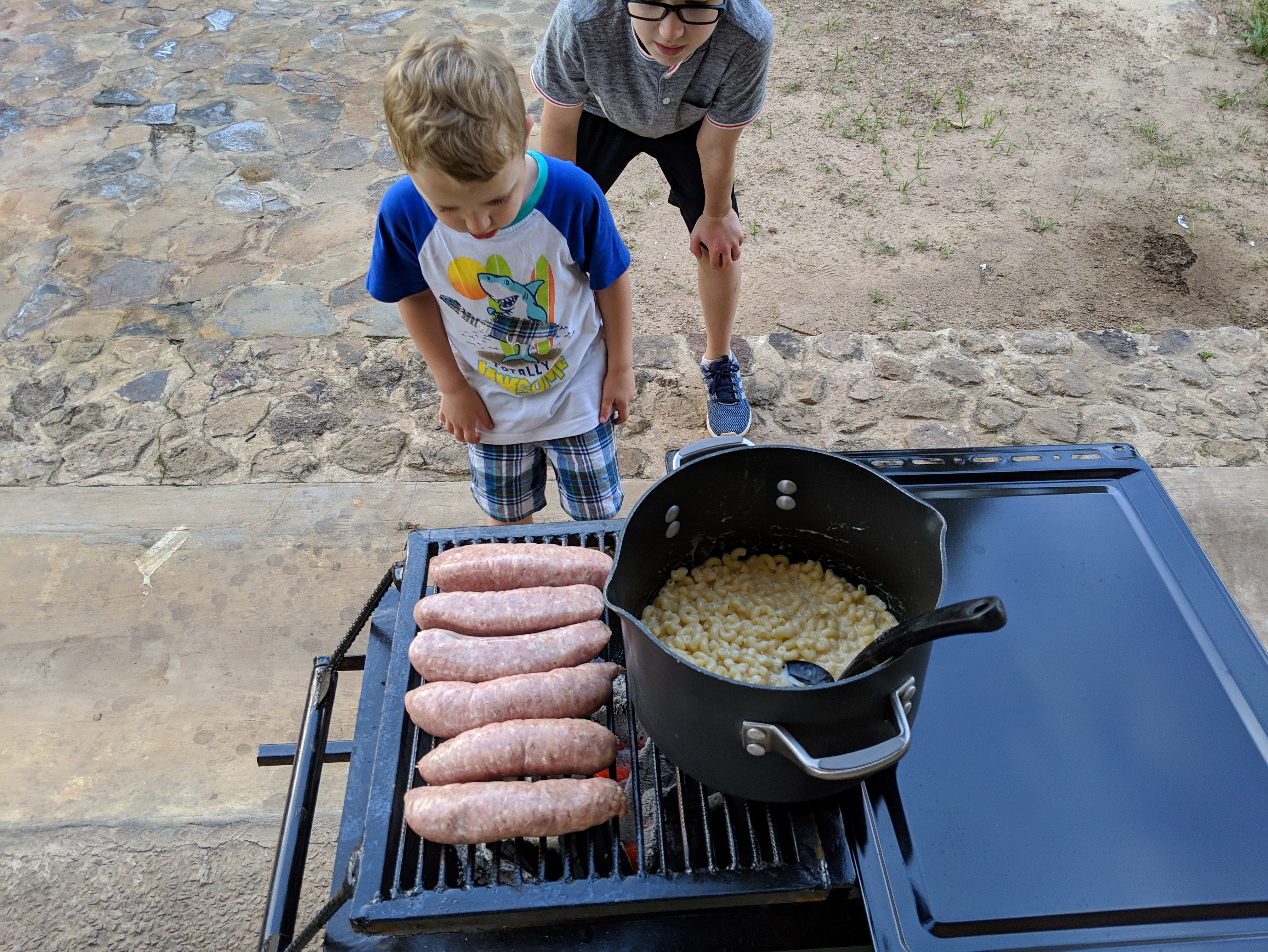outside cooking