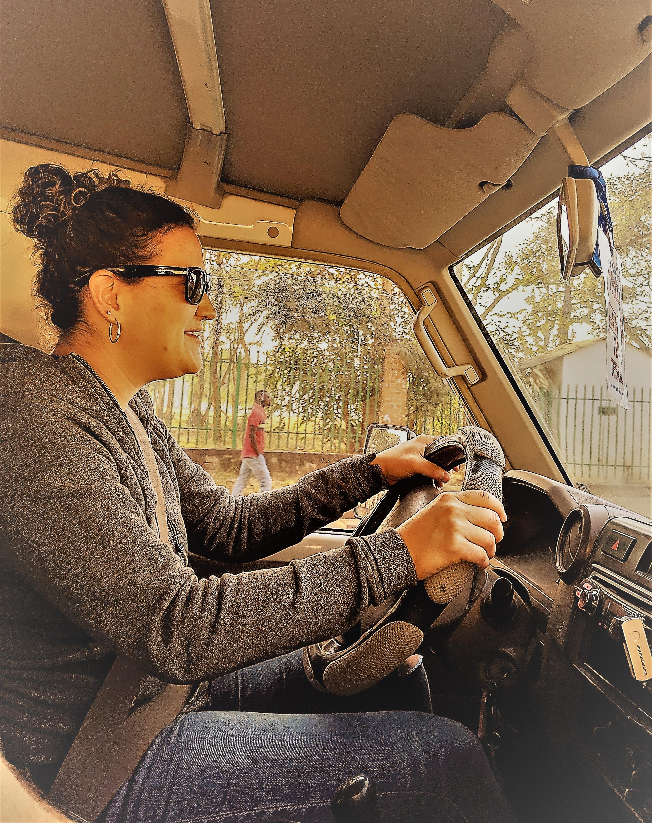 renee driving- funky