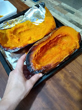 Roasted pumpkin to make into all things pumpkin
