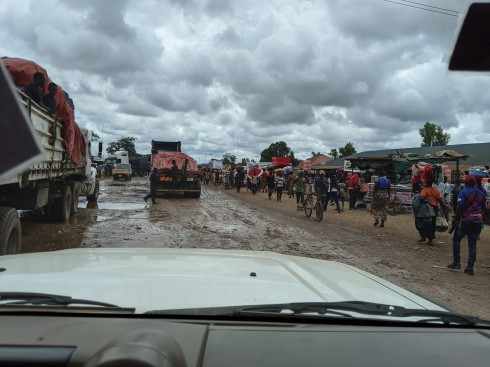 Crossing the Congo/Zambian border